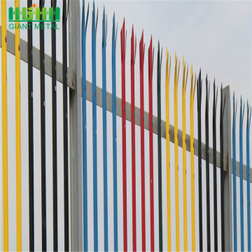 Wholesale D or W type Colorful palisade fence