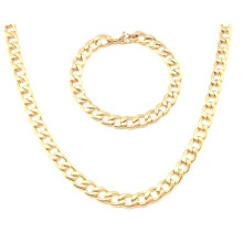 Edelstahl Gold Modeschmuck Halskette Set