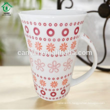 2015 Food contact safe popular thin thermal porcelain cappuccino cup