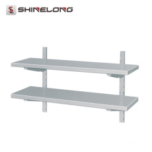 Estante de pared de acero inoxidable con 2 capas de cocina comercial superventas