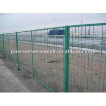 Malha de cerca revestida de PVC da estrada
