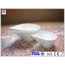 water drop shape high quality white ceramic soup bowl