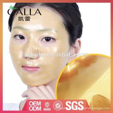 China fabricante 24 k facial máscara de ouro com melhor qualidade e baixo preço
