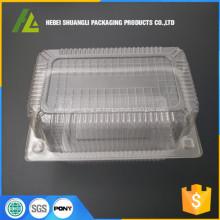 bolinho de recipiente de plástico transparente