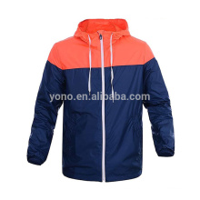 Custom man's jogging wear breathable polyester tracksuit jacket