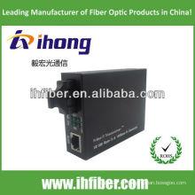 10 / 100M SC SM Doble fibra óptica Media Converter