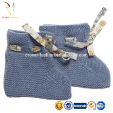 Plain Knitted Cashmere Baby Booites