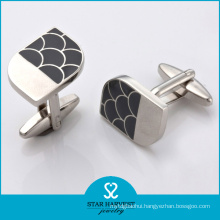 2016 Rhodium Plated Plain Novelty Cufflinks (SH-BC0019)