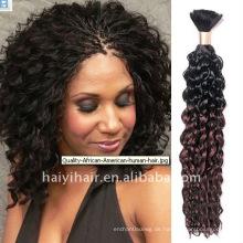 Verschiedene Farben natürliches lockiges Haar