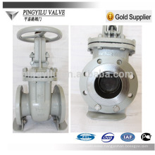 GOST pn16 flanged carbon steel chemical pipeline cuniform stem gate valve company