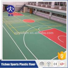 Revestimento plástico dos esportes quentes do pvc da venda de 3.5mm, de 4.5mm para o basquetebol / badminton / voleibol