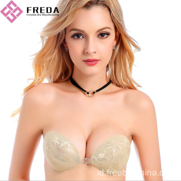 Best Silk Lace Silicone Strapless Push Up Bra