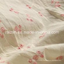Cotton Fabrics Embroidered Linen Fabric with Radiation Protection