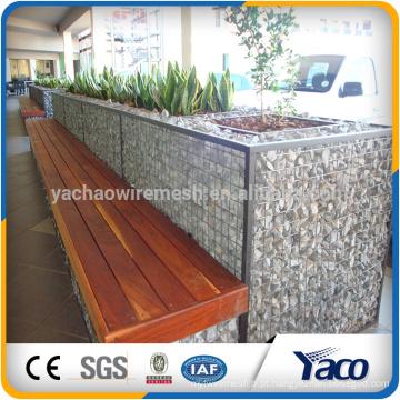 china fornecedor 2 * 1 * 1 m .1 * 1 * 0.5 m soldado malha gabião de malha de arame galvanizado (ISO 9001)