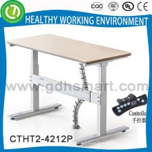 Synchroner Elektro-Klapp-Ecktisch mit guter Tischplatte