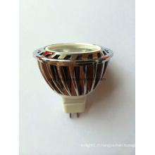 Dimmable12V DC MR16 LED COB Ampoule avec CE SAA RoHS