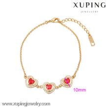 Pulsera plateada oro fino de calidad Hight de la joyería 73933-Xuping para Woamn