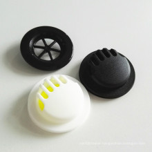 High quality white 37mm diameter air control degassing plastic breath TPU air valve with silicone rubber for face facemask