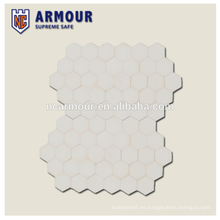 Hexagon UHMWPE hard armour plate for military