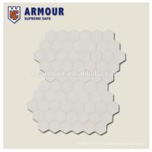 Hexagon UHMWPE plaque de blindage rigide pour militaire