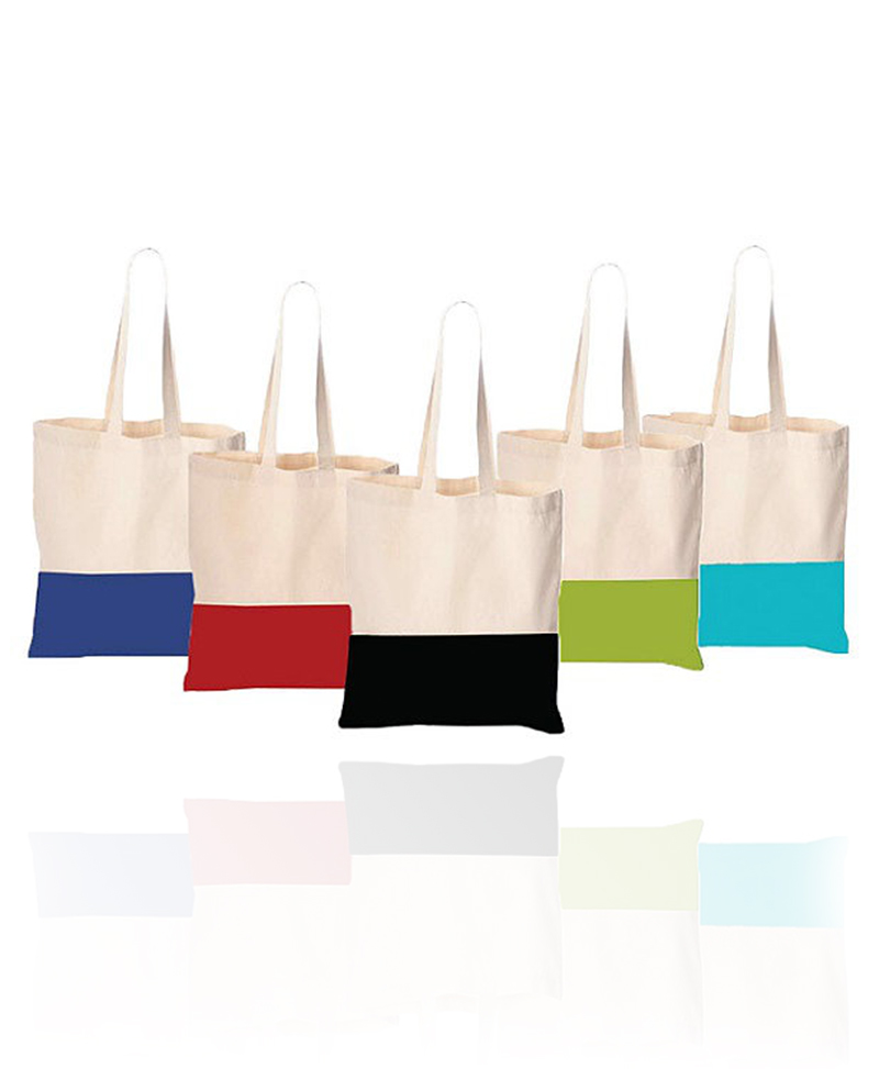 pure colorful canvas bag