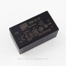 MEAN WELL Miniatur gekapselt offenen Rahmen 10W 15V Netzteil IRM-10-15