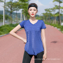 Women Quick Dry Sports T Shirt Elastic Short Sleeve Tshirt