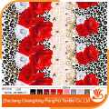 Colorful disperse printing 3D fabric for bedding set