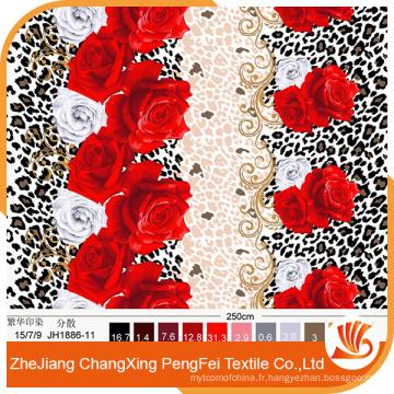 Tissu brossé d'impression polyester en polyester pour drap