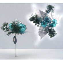 Plastic Decorative Glitter apple ornament Christmas gift Christmas pick