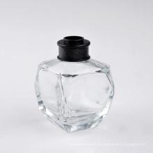 55ml Quadrangle Clear Parfümflasche mit schwarzer Kappe