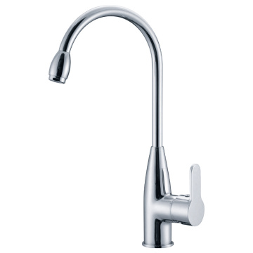 Single Tuas Tinggi Spout Brass Dapur Mixer