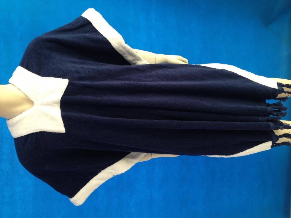 Adult Poncho Towel Blue