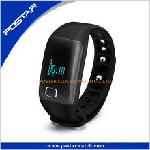 a + Quality Monitor de ritmo cardíaco Reloj inteligente Teléfono Podómetro Banda de silicona