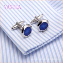 VAGULA moda rodio plateado cobre azul mancuerna enlace