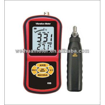 Medidor de vibración Medidor de vibración portátil Medidor de vibración de mano Medidor de vibración Vibrómetro WH63B
