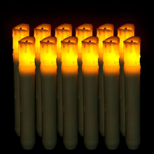 Fiber Head Cylindrical Simulated flame LED Candle