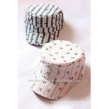 New Arrival Custom Fashion Printed Flat-top Military Caps of Cotton China Factory