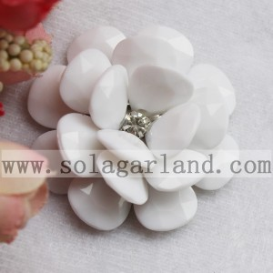 54MM Acrylic Opaque Large Beaded Flower Fancy Bead Blossom
