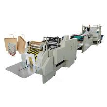 Rollo de alimentación de papel de fondo cuadrado mano bolsa de la máquina