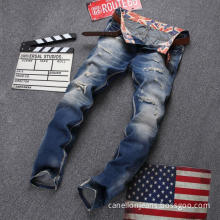 The New Men's Urban Fashion Hole Torn Jeans