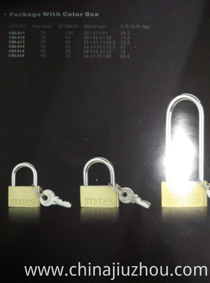 High Quality Thin Type Brass Padlock