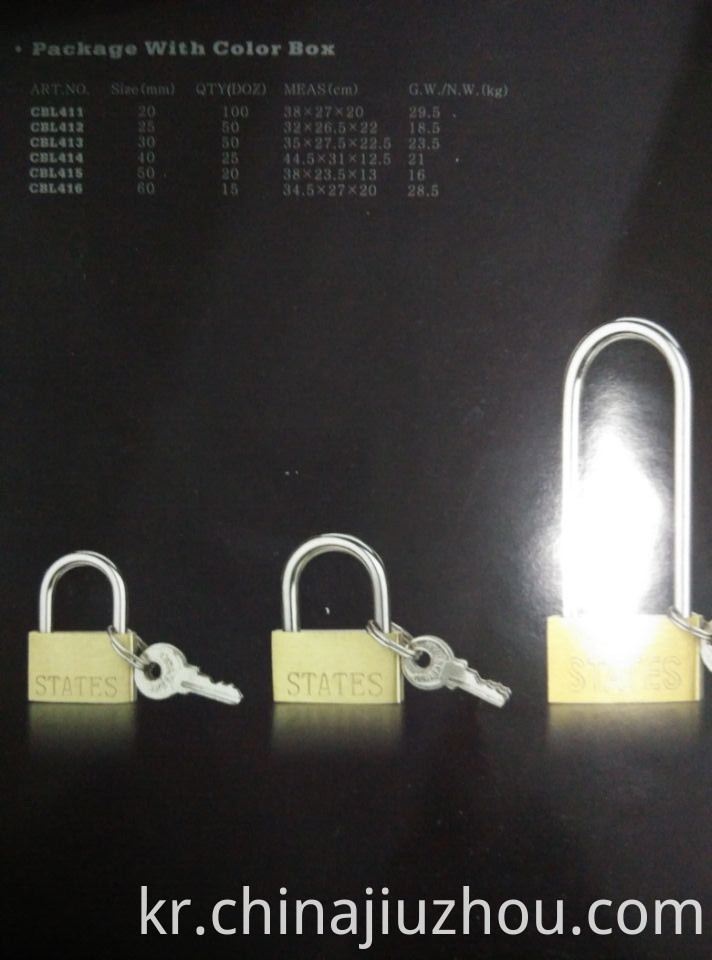Thin Brass Lock Catalog