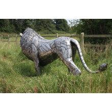 escultura de león de acero inoxidable VSSSP-27S
