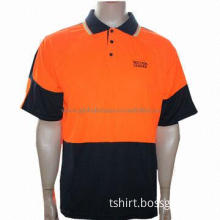 Man's Embroidery Logo Cool-dry High-visibility Polo Shirt, Customized Designs Welcomed