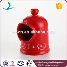 Cute red ceramic kitchen salt shaker