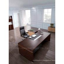 Mobilier de bureau moderne en bois de chêne noir en chêne noir (HF-SID001)
