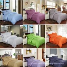 Farbige Baumwolle Satin Streifen Bettwäsche Set für Hotel / Home (DPF10112)
