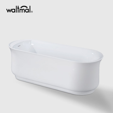 Emmanuelle Narrow Rim Freestanding Bathtub di Acrylic
