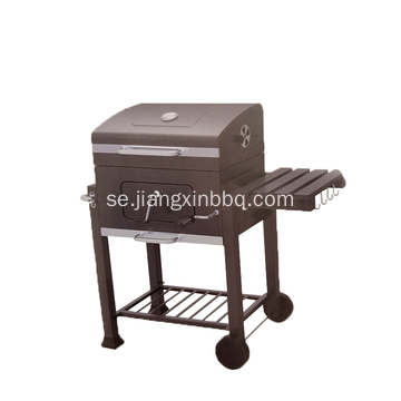 Charcoal BBQ Grill med sidobord